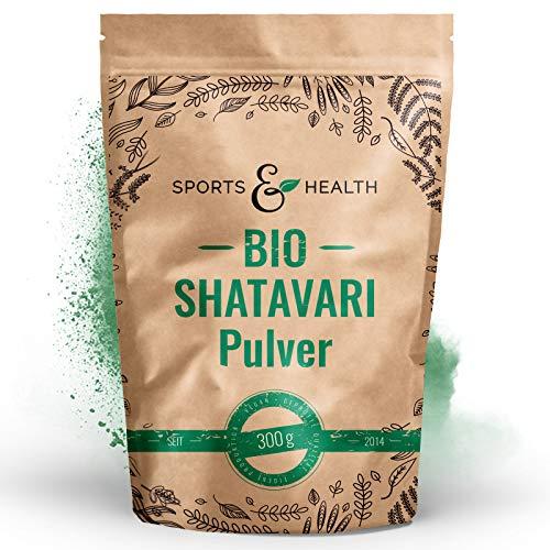Shatavari Pulver Bio - Ayurveda 300g - Vegan - 100% Natürlich – Eigene Produktion- Mit Extra Messlöffel