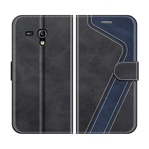 MOBESV Handyhülle für Samsung Galaxy S3 Mini Hülle Leder, Samsung Galaxy S3 Mini Klapphülle Handytasche Case für Samsung Galaxy S3 Mini Handy Hüllen, Schwarz