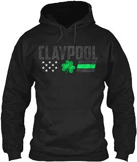Claypool Family Lucky Clover Flag Sweatshirt - Gildan 8oz Heavy Blend Hoodie