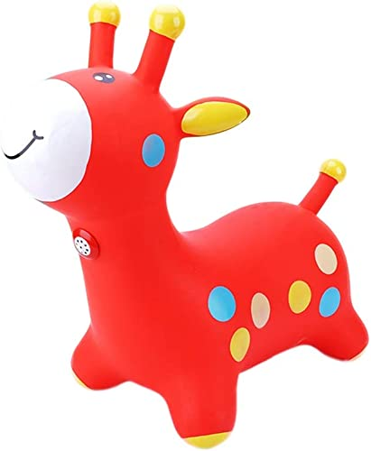 Cheval à bascule Gonflable Enfants Ride on Toy   Formation avec Fonction de Musique pour Les Enfants agés de 3-10 xiuyun (Couleur   rouge, Taille   50  28  55cm)