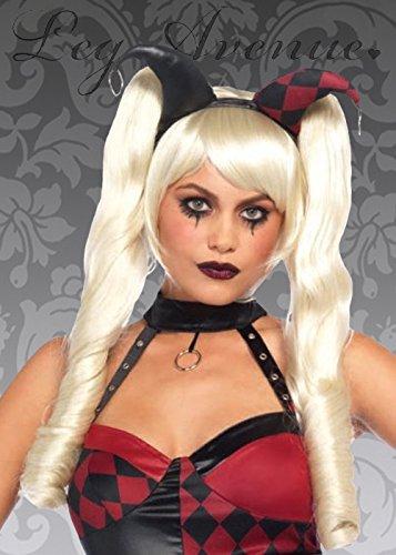 Magic Box Style de Blonde Harly Quinn Dolly Bob Perruque