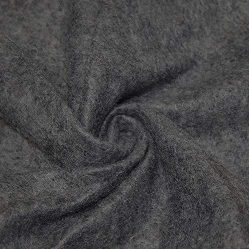 Barcelonetta | Tela de fieltro acrílico | 183 cm de ancho | 1,5 mm de grosor | DIY artes y manualidades, costura, cojín y acolchado (carbón, 2 yardas)
