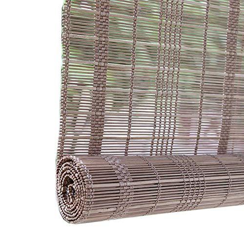 Jcnfa-rolgordijnen van bamboe, Oo rolgordijnen om op te rollen, voor slaapkamer, ramen, bamboe, blind zonlicht, 2 soorten installatie, verkrijgbaar in verschillende maten