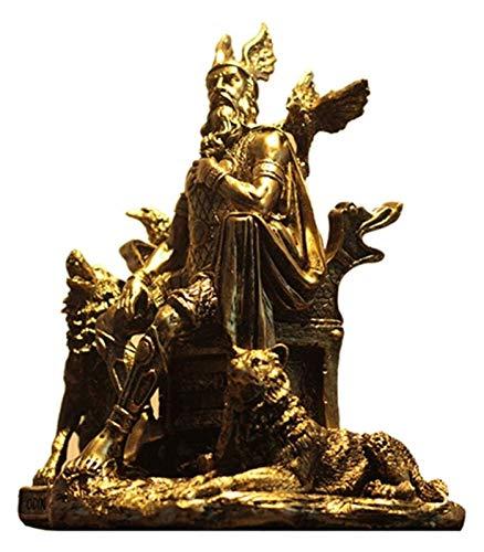 Desktop-Skulptur Greek God Odin Statue, Skulptur Handwerk Harz Dekoration Kunstwerk Familie Retro Modell Desktop Dekoration Figuren
