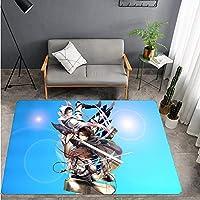 攻撃ジャイアントカーペットリビングルーム寝室子供部屋漫画カーペット長方形幼稚園ダイニングルームベビーリビングルームベッドサイドモバイルドアマット-A_40X60CM