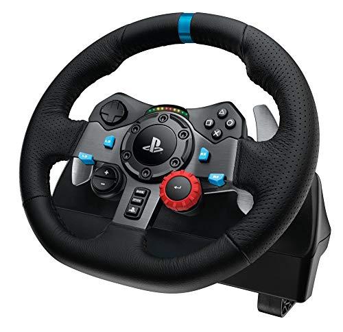 WUAZ Volant de Course, Volant de Jeu, Volant et pédales Racing Force (PS4 / PS3 et PC)