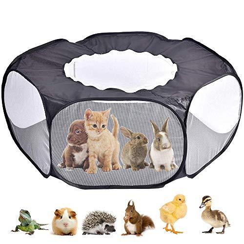 ASOCEA Parque de conejo, conejo, cobaya, tienda de campaña con funda para mascota, corral portátil para actividades al aire libre, para hacer ejercicio, para perros, gatitos, hámster,chinchillas
