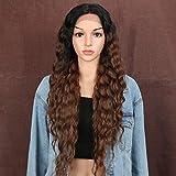 Style Icon perruques Lace Front Wigs Synthetique 76cm Longue Perruque Ondulée Devant En Dentelle Perruque Pour Femmes Fibres Résistantes À La Chaleur