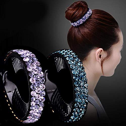 osmanthusFrag Frauen Mädchen Strass Intarsien Haarkrallen Twist Clip Haarnadel Brötchen Zubehör Headwear Rosa