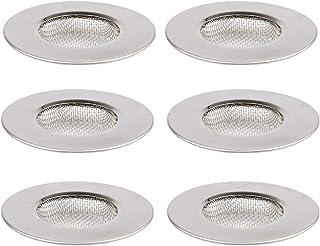 (6PCS) Filtro de fregadero de cocina de plata, red de filtro de tensión de drenaje de acero inoxidable, filtro de cabello ...