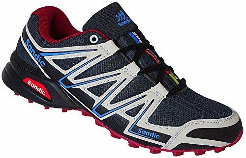 Herren Laufschuhe Sportschuhe Turnschuhe Sneaker Schuhe Art.-Nr.1672 weiß-grau-rot (42)