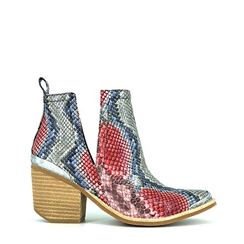 Botines JEFFREY CAMPBELL Cromwell Red + Blue