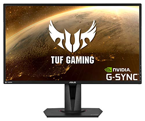 ASUS VG27AQ TUF Gaming - Monitor de Gaming de 27' (WQHD 2560x1440, 165 Hz, Extreme Low Motion Blur Sync, G-SYNC Compatible, Adaptive-sync, 1 ms MPRT) color...