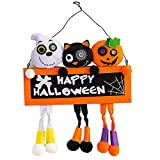 SWOZ Brujas Halloween Gatos Negros Suministros Decoración Calabaza Accesorios Diseño Escena, Adecuad...