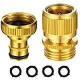 3/4 Inch Brass Garden Hose Connector Female Male Quick Connector Water Hose Coupling