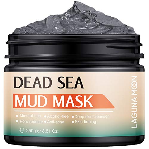 Lagunamoon Dead Sea Mud Mask, Mineral-rich Cleansing Face Mask for All Skin Types, Moisturizing Anti-aging, Soft & Smooth Skincare Face Mask for Women and Men, 8.8 Oz