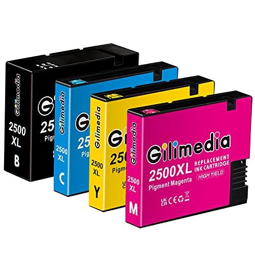 Gilimedia 2500XL para Canon PGI-2500XL PGI-2500 Tinta para Canon Maxify MB5050 MB5150 MB5450 MB5350 iB4150 MB4050 MB5155 MB5455 iB4000 iB4100 iB4050 MB5000 MB5100 MB5300 MB5400 (Paquete de 4)