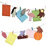 [necker] フォトフレーム 写真 ガーランド 壁掛け 装飾 飾り はがき サイズ 誕生日 (動物)