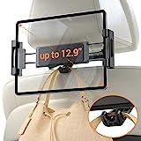 Car Headrest Tablet Mount Holder, iPad Car Mount Bakel Headrest Tablet Holder Compatible with iPad Pro 12.9/11, Phones/Tablets/Switch 4.7'-12.9', Headrest Posts Width 4.7in-5.9in Black