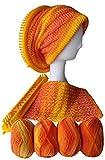 6 Balls Hand Knitting Yarn Rainbow Segment Dyed Gradient Colorful Wool Yarn for Knitting Needles Crochet Hooks Kit Loom Knitting Knit Hat Projects Scarf Shawl Patterns (Autumn Leaf Love Colorway)