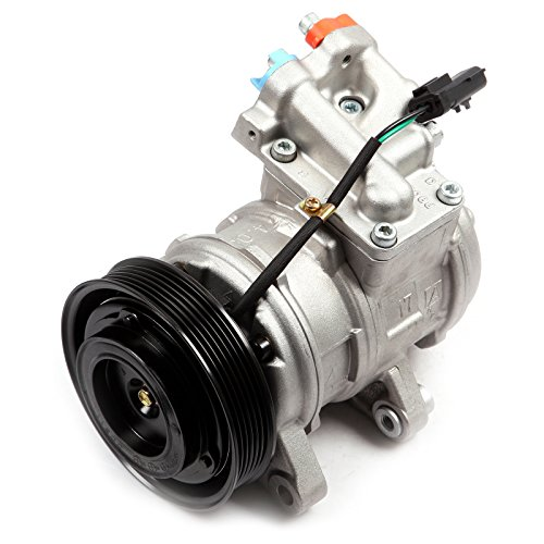 SCITOO CO 22034C AC Compressor and A/C Clutch Compatible for J-eep Wrangler TJ Grand Cherokee 4.0L 1999-2006
