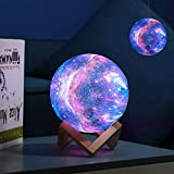 Moon Lamp Moon Night Light Decorative Galaxy Lamp, Touch & Remote Control 16 Colors LED 3D Star Lamp with Stand, Birthday Valentines Day Romantic Gift for Girls Women Lover Kids (5.9 inch Purple) glowing stars Nov, 2020