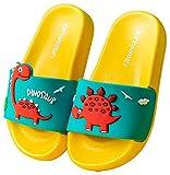 Vorgelen Zapatos de Playa y Piscina para Niños Bañarse Chanclas para Niña y Niño Zapatillas Baño de Estar por Casa Verano Amarillo Verde 24/25 EU = Fabricante 25/170