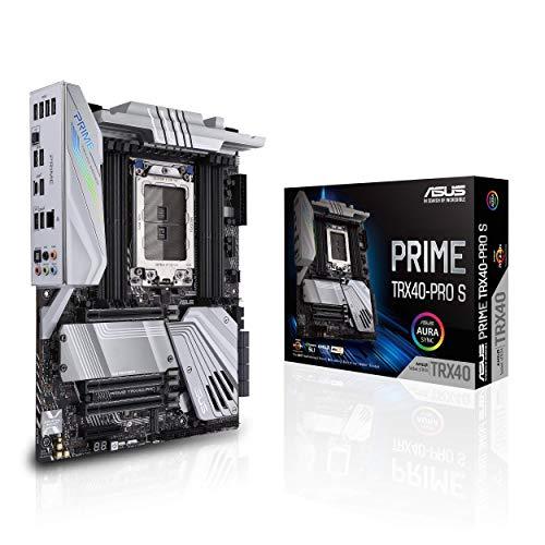 ASUS Prime TRX40-Pro S AMD sTRX4 3rd Gen Ryzen Threadripper ATX Content Creation Motherboard (16 Power Stages, PCIe 4.0, DDR4, Triple M.2, Gigabit LAN, Aura Sync RGB).