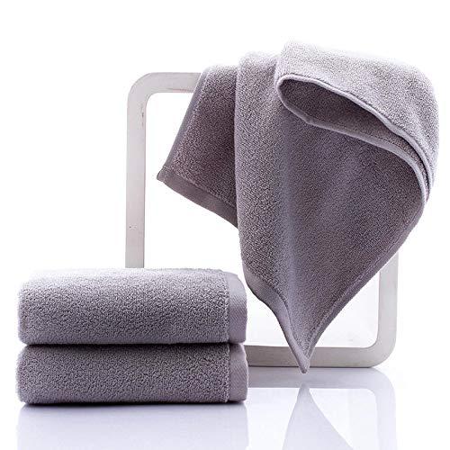 XINDUO Toallas Algodon Egipcio,Toalla Absorbente de algodón Puro de Secado rápido 3pcs-Grey_32 * 70,Toalla Súper Suave Alta Absorción