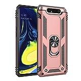 BestST Galaxy A80 Schutzhülle, Hülle für Samsung Galaxy A80, 360 Grad Drehbar Ringhalter mit Magnetischer Handyhalter Auto Handyhülle für Samsung Galaxy A80- Rose-Gold