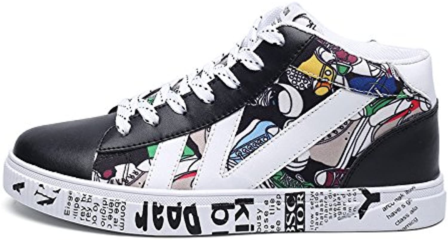 Casual shoes, canvas shoes, fashion casual shoes high canvas shoes to help students,black,Forty-three