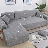 WXQY El sofá en Forma de L Necesita Comprar 2 Piezas de Funda de sofá, Funda de sofá Flexible para Sala de Estar, Funda de sofá de Esquina Flexible A3 de 4 plazas