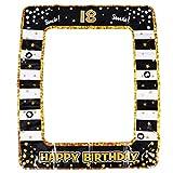 Amosfun Marco para fotos hinchable 18 ° Número marco para selfies marco para fotos cabina para decoración de fiestas navideñas de cumpleaños para adultos de 18 años