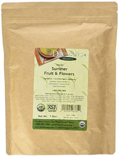 Davidson's Tea Bulk, Caffeine Free, Summer Fruit & Flowers, 16-Ounce Bag