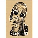 yitiantulong Impression sur Toile Peinture sans Cadre Kurt Cobain Dei Nirvana Rock Affiche Café Bar Affiche Rétro Affiche Mur Autocollant Y149 (50X60Cm) sans Cadre