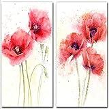 Wand Mohn Leinwand Kunst Malerei abstrakte rote Blumen Pop-Art Poster und Drucke Bild für Wohnzimmer