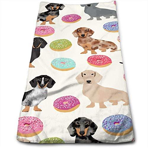 Dachshunds Donuts lindo máximo suavidad absorbente impreso toalla de baño toalla de mano toalla de pelo 30 cm * 70 cm