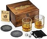 Whiskey Stones Gift Set for Men | Whiskey...
