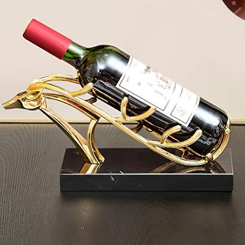 WBYHGY Estante de Vino Carácter Decoración de Entrada Creativa Gabinete de Entrada Sala de Estar Estilo Europeo Cobla Botella de Vino Rack Hogar