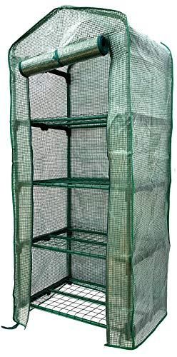 Jiiay Mini Greenhouse, 4 Tier Portable Greenhouse Indoor and Outdoor. Update Durable PE Material...