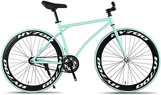 GYZLZZB Minimalist Fixie Single Speed 700C 26 Inch Commuter City Road Bike High Carbon Steel Frame | Frame Urban Reverse B...