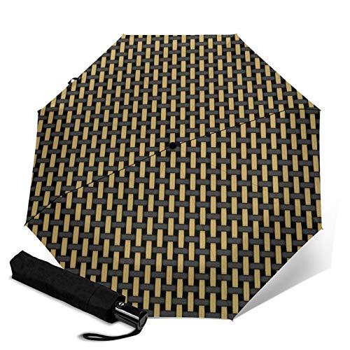 Paraguas premium a prueba de viento, estilo británico negro...