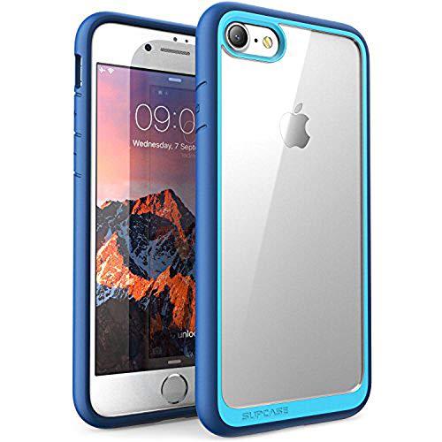 Custodia iPhone 8 iPhone 7, i-Blason - Cover AntiUrto [Shock Absorbing] Angoli Rinforzati - Pannello Posteriore Trasparente - Bumper (Nero)