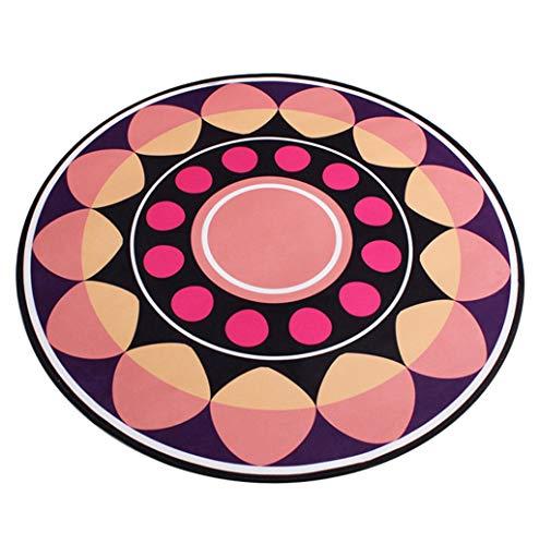 JCOCO Creative géométrie Tapis Rond Facile à Manipuler Taches Anti-dérapant étanche Cuisine Salon Tapis Ordinateur Chaise Pendaison rotin Panier Coussin (Couleur : #1, Taille : 200 * 200cm)