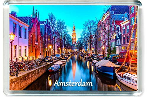 J007 Amsterdam Jumbo Imán para Nevera Netherlands Travel Fridge Magnet