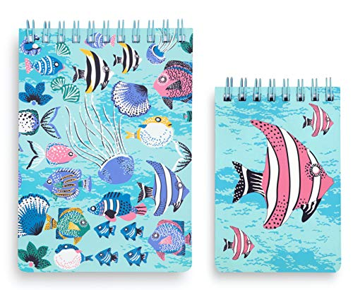 Vera Bradley Spiral Jotter Memo Pad Set with 1 Large Notepad and 1 Small Notepad (Paisley Wave)