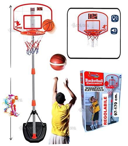 loco by crazy shoes CANESTRO Basket PIANTANA E TABELLONE Regolabile SEGNAPUNTI Digitale E Palla