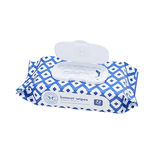 The Honest Company Designer Baby Wipes - Pure & Gentle | Over 99% Water | plant-based & Biodegradable | alcohol, Fragrance & Paraben Free | Hypoallergenic Honest wipes | Blue Ikat | 72 Count