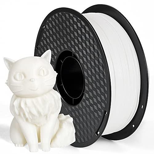 Filament PLA 1.75mm, AnKun 3D Drucker Filament für 3D-Drucker und 3D-Stift, Dimensionale Genauigkeit +/- 0.02 mm, 1kg Spule, Weiß