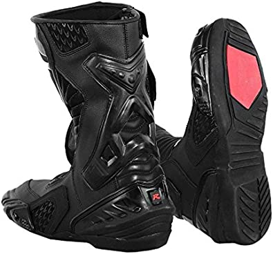 2016 Nextek Genuine Leather Motorbike Motorcycle Armoured Boots Long High Ankle Protection RASING Shoes Sports Cruising Touring
